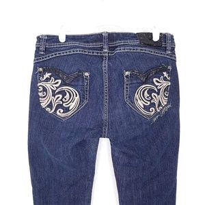 Apple Bottoms embellished pocket skinny jeans